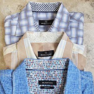 Bugachti • 3 Pack Cotton Button Ups